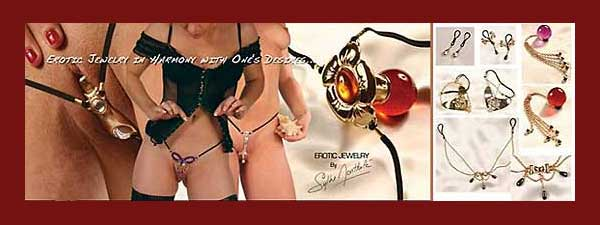 Erotic Body Jewelry by Sylvie Monthulé of Paris